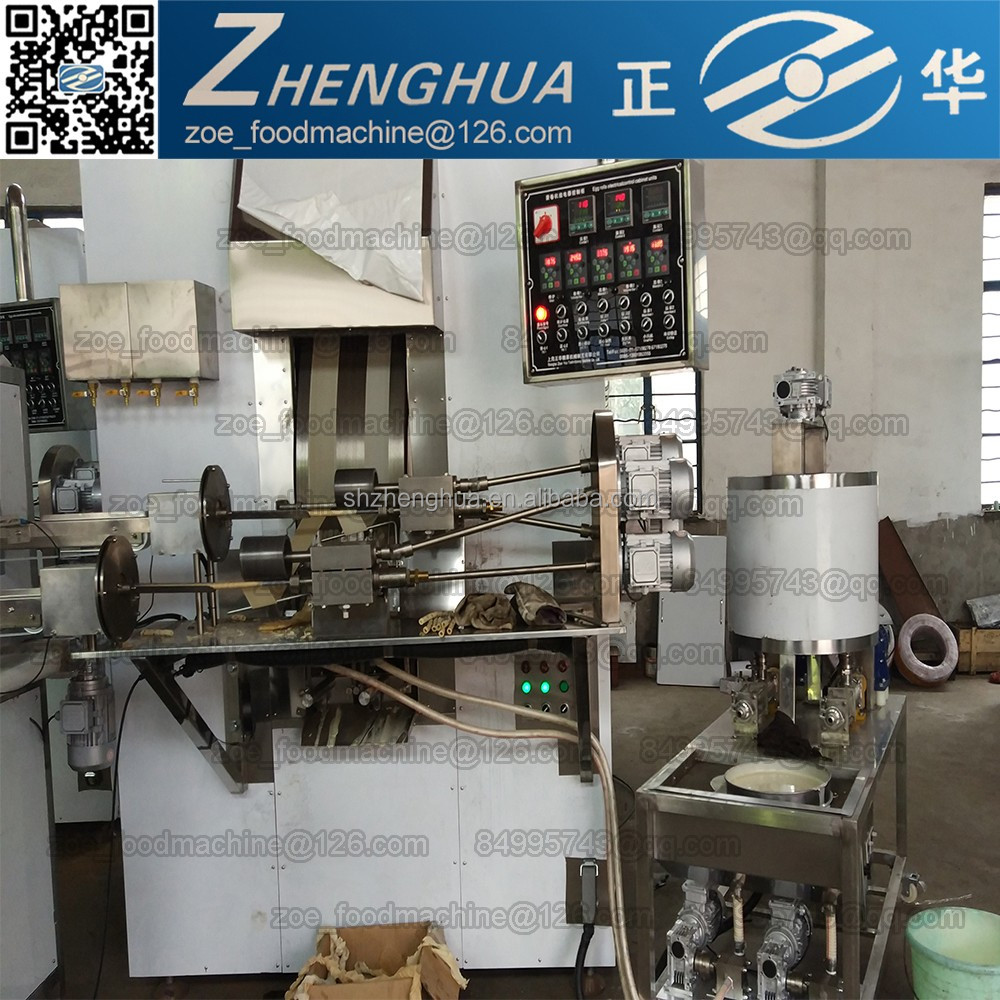 ZH2000 type automatic gas heating egg roll making machine