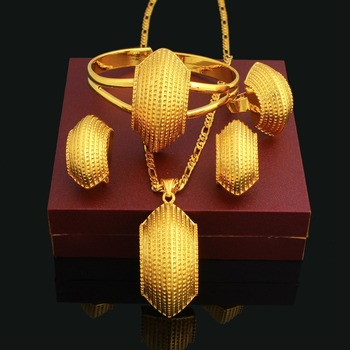 Big Gold Plated Jewelry Set Saudi Gold Jewelry Set Price 22k Gold