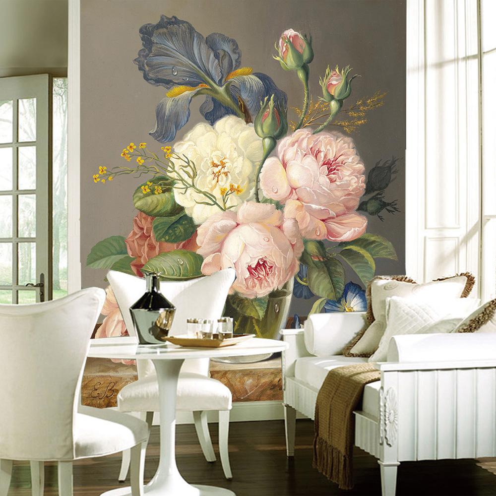 Luxury Home Décor Home Accessories: Custom Luxury Wallpaper Elegant Flowers Photo Wallpaper