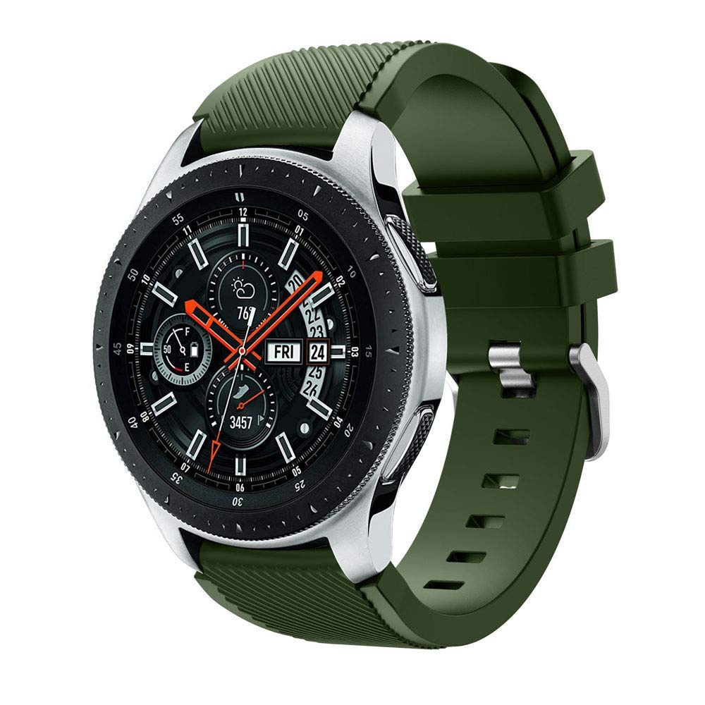 Galaxy Watch Bands,AutumnFall 22mm Soft Silicone Watch Band Replacement Wrist Band Strap for Samsung Galaxy Watch 46mm (Army Green)