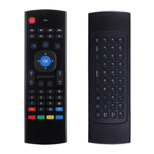 IPazzPort Steel 2.4 Ghz IR leren air mouse keyboard wireless voice toetsenbord <span class=keywords><strong>afstandsbediening</strong></span> voor Android TV box PC, fabriek