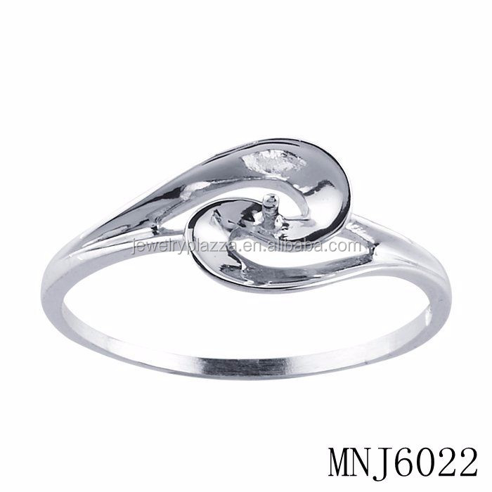 925 sterling silver pearl mounting ring , pearl ring mountings new ...