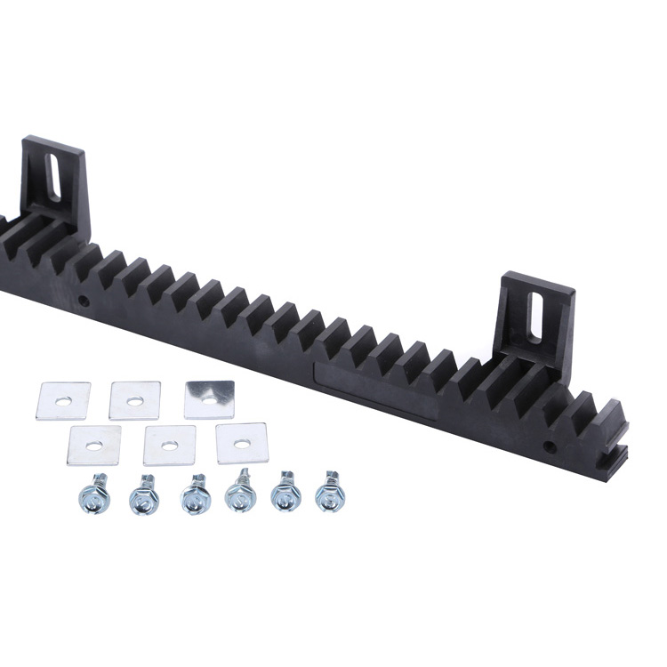 Durable Heavy Duty Custom  automatic sliding door gate motor module 6 gear and rack rail nylon gear rack  plastic gear rack