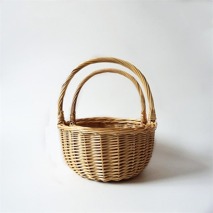 set of 2 cheap wicker gift hamper baskets for mothers day