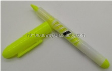 AMAZON NINGBO CHINA WHOLESALE OFFICE STATIONERY 2 IN 1 COMBO TWIN TIP FREE INK ROLLER HIGHLIGHTER MARKER PEN