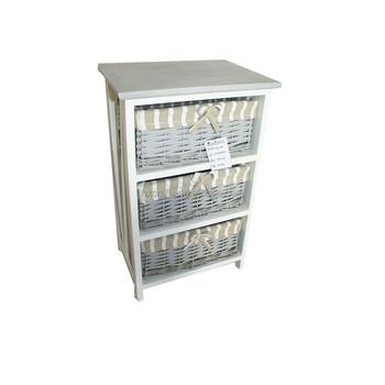 Versatile 3 Rattan Drawers Basket Storage File Cabinet ...