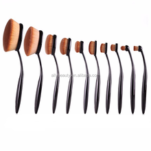 New Arrival Tooth Brush Style 10pcs Makeup Brush Set/oval Bb Cream Foundation Brushes