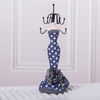 38*9*9cm dots Model Jewelry Holder & Jewelry Stand & Model Jewelry Display blue color for necklace ring and earring