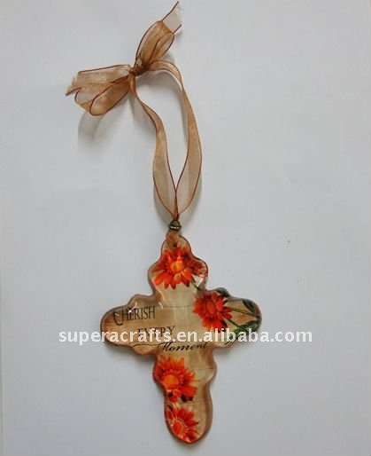 Aangepaste Maple Leaf Souvenir Opknoping Kristalglas Geschenken Craft Ornament