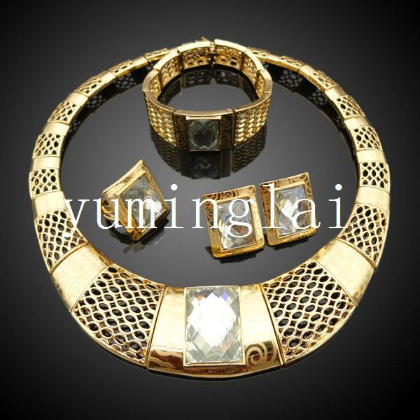 Turkish Jewelry In Gold With Crystal DiamondEuropean Fashion