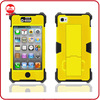 New Arrive 2013 High Impact Yellow Super Robot Hybrid Combo Kickstand Case for iphone 5
