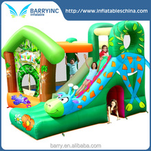 Kids Fun Jungle Land Giraffe Jumping Castle And Slide Inflatable Bouncy House