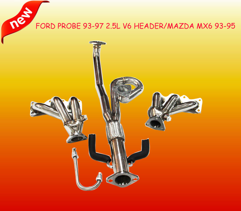 6-2-1 STAINLESS RACING MANIFOLD HEADER/EXHAUST 93-97 F ORD PROBE/M AZDA MX6 MX-6