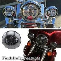 Harley motorcycles led headlights replacement, 7 inch motorcycle headlamps