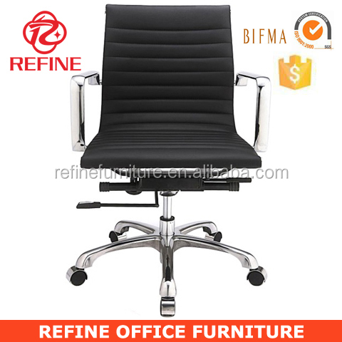 black cow leather hotel office chair RF-S076