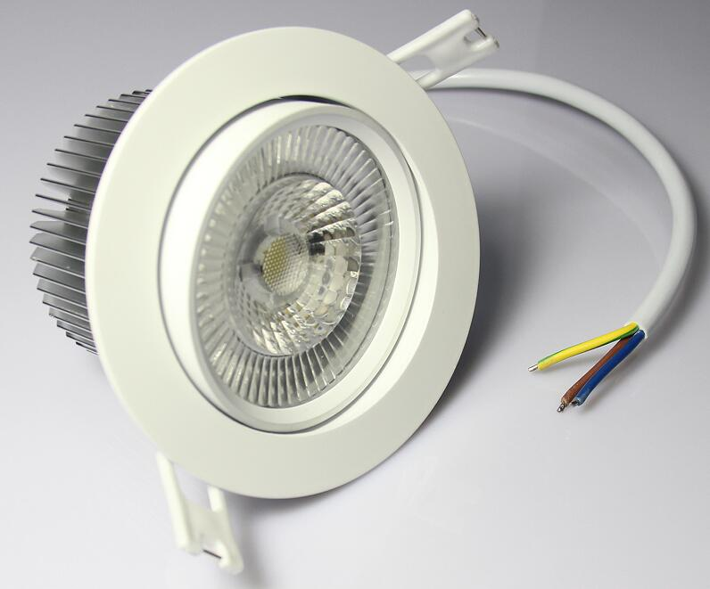 Led downlight mini dimmable warm white 2700k 85Ra light Driverless 10w cob dimmable recessed led ceiling downlight head moveable