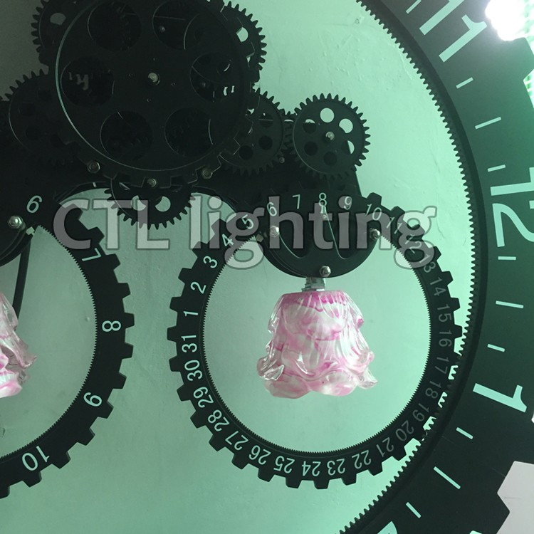 Decorative living room wall sconces Italy popular custom black interior designers clock wall lamp modern