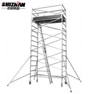 Aluminum mobile scaffold tower/portable scaffolding/scaffolding system