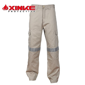Oil Resistant Reflective Tape Workwear Mens Work Pants