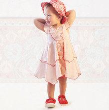 2016 Fashion Cute Girls Red Heart Printed Dress Toddler Children Irregular Princess Dress Kids Summer Holiday
