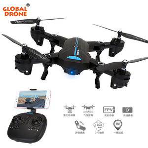 Newest Global drone A6 Fold rc drone helicopter 2MP camera RC quadcopter drone hobby headless wifi fpv selfie uav mini foldable