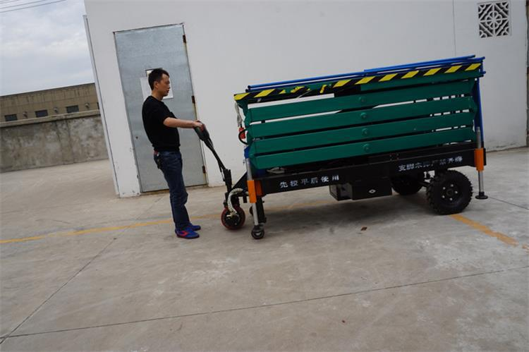 Selected Material Stationary Indoor Portable Scissor Lift Platform