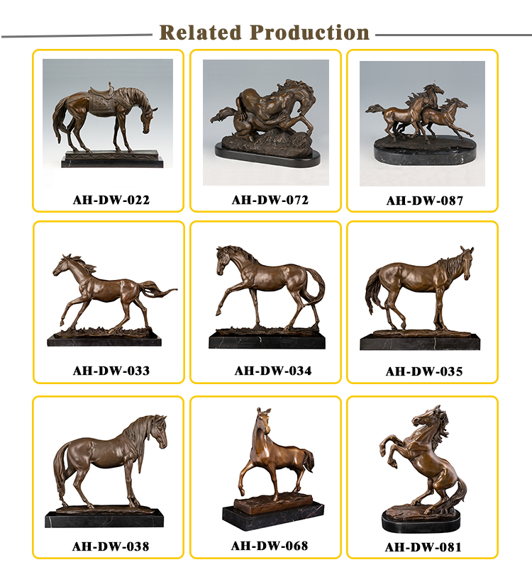 Table decoration small size bronze metal horse statue sculpture for sale