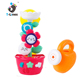 Custom plastic baby flower waterfall town bath tub toys