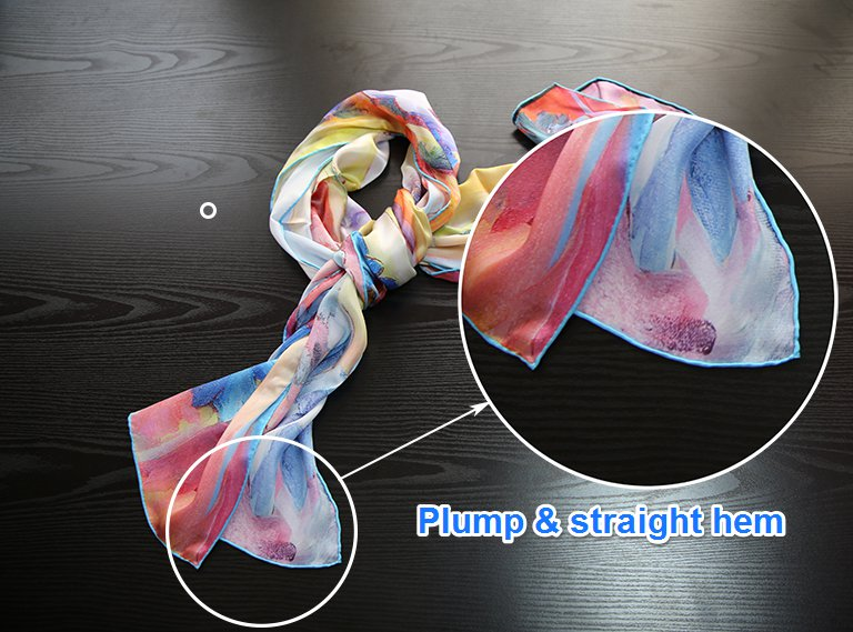 wholesale new design printed multifunctional long chiffon silk scarf for lady