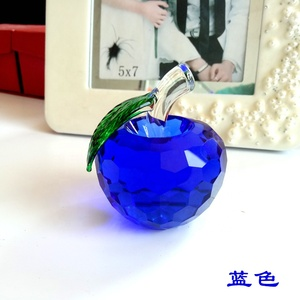 Fancy office decoration durable christmas crystal crafts gift crystal glass apple birthday gift