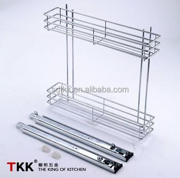 TKK Slide Side Pull Out Wire Basket /Kitchen Cabinet Basket
