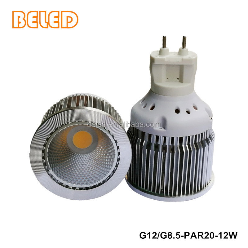 High power PAR20 Base G12 G8.5 12W COB RA80 LED BULB