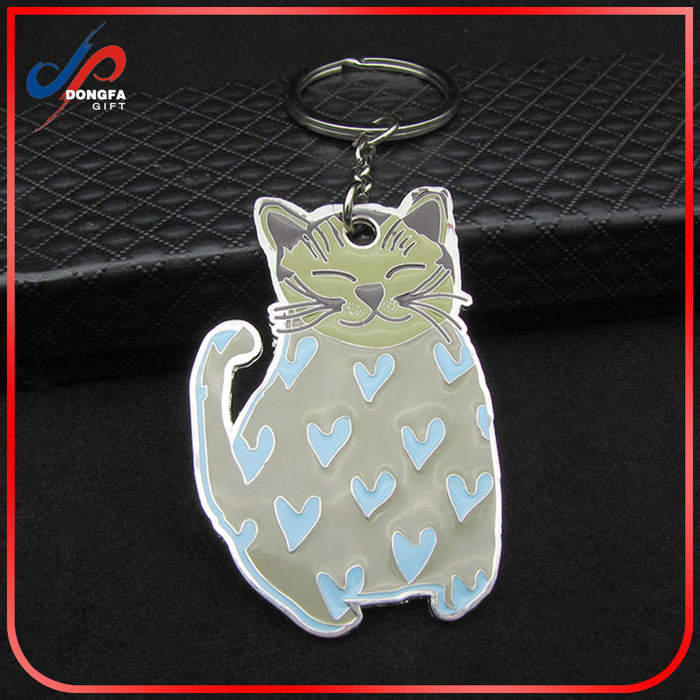 Beautiful keychain cat, Promotion cat keychains, Cat metal keychains