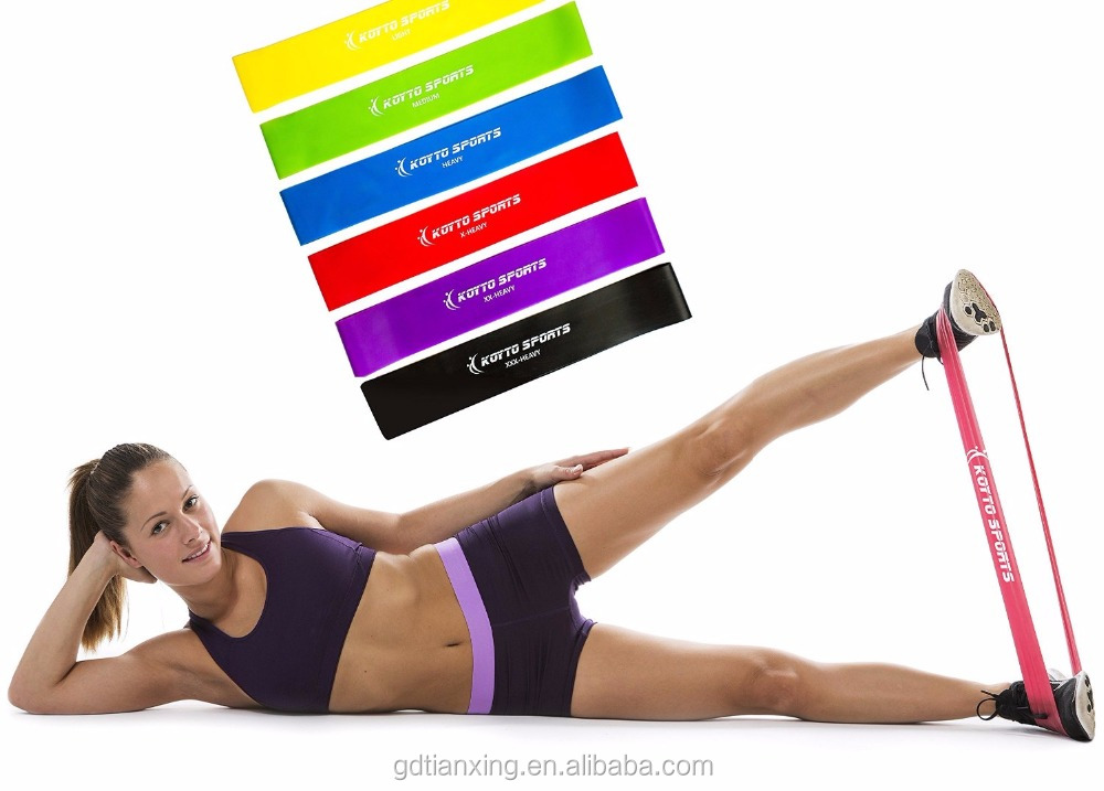 Resistance Flat Bands. Latex Home Gym Fitness Equipment for Strength Training, Physical Therapy, Pilates, Stretch