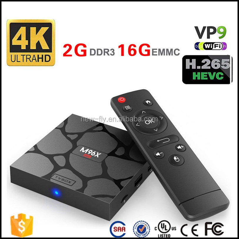 2017 Newest smart android tv box M96X mini 2G/16G 2.4G/5GHz Dual WiFi Amlogic S905w quad core Android 7.1 m96x pro tv box