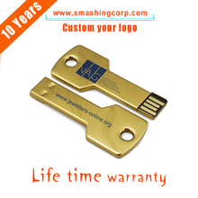 custom logo cheap bulk 512mb-32gb Capacity usb key, Metal Car Key USB Flash Drive in Colors, Engraved Logo Key USB for Promotion