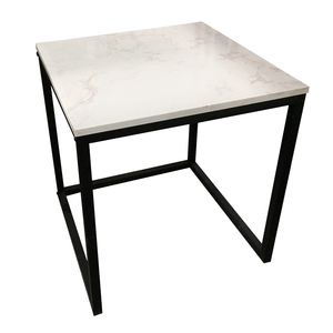 Marble Top Corner Sofa Side Coffee Tea Table With Metal Legs