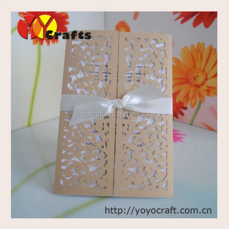 Best selling beige gold New products Cards Invitation for wedding, party