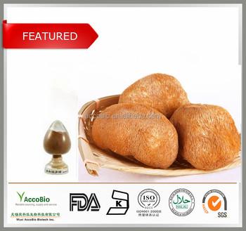 100% Nature Lion's Mane Mushroom Extract Bulk Powder / Lion's Mane Mushroom P.E.