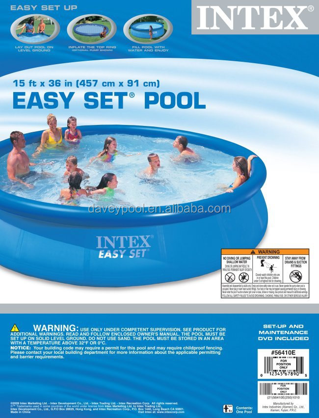 Wholesale intex easy-set above ground swimming pool, View plastic swimming  pools, davey Product Details from Guangzhou Wayman Health Equipment Co., ...