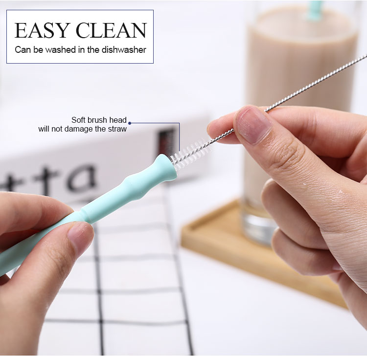 New Product Ideas Portable Eco Friendly  Collapsible Silicone Drinking  Reusable Straw Supplier