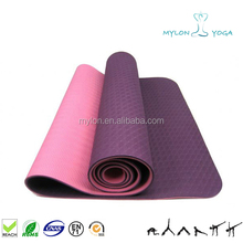 anti-fatigue purple tpe yoga mat/organic yoga mat/eco friendly yoga mat