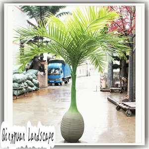 Wholesale 1.5m artificial bottle coconut tree,fiberglass plant,artificial coconut leaves for decoration