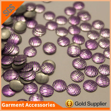 Round metal hotfix nailhead korean lead free iron on nailhead for clothing