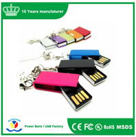 Wholesale promotional product swivel usb flash drive 2.0 colorful elfin usb stick