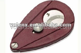 2015 Plastic Double Grid Single Blade Cigar Cutter