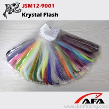Venta al por mayor tinsel varios colores krystal flash moscas material para la pesca