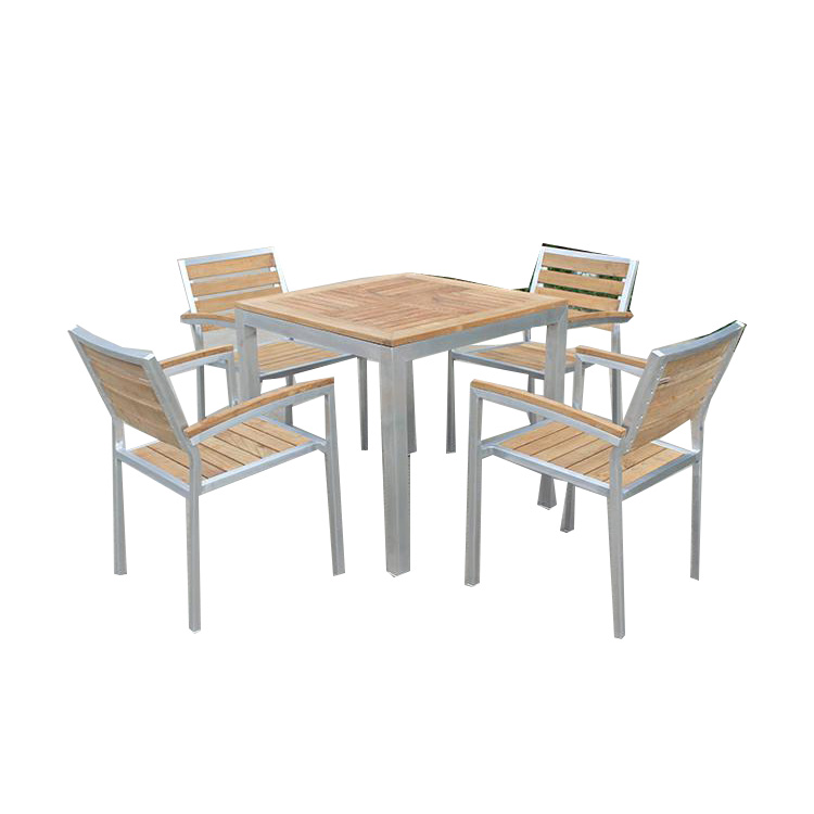 Poli En Aluminium Meubles De Jardin En Bois De Teck Table Et Chaise - Buy  Table Et Chaise En Bois De Teck,Meubles En Aluminium Poli,Meubles De Salle  À ...