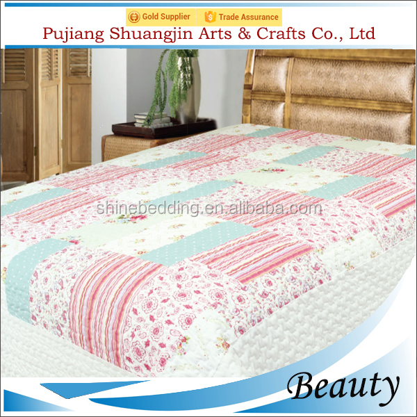 China wholesale summer polyester fiber quilted bedspread and matching curtains