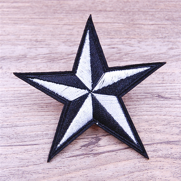 Custom star shape felt patches for sport shoes